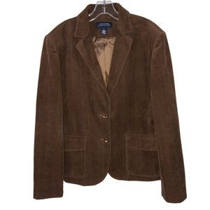 Brown Corduroy Lined Jacket Size Large